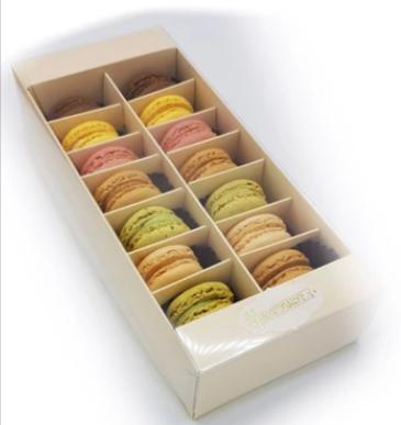 macarons-14 stuks-franse-patisserie-verzenden-cadeau-per-post-pakketzenden