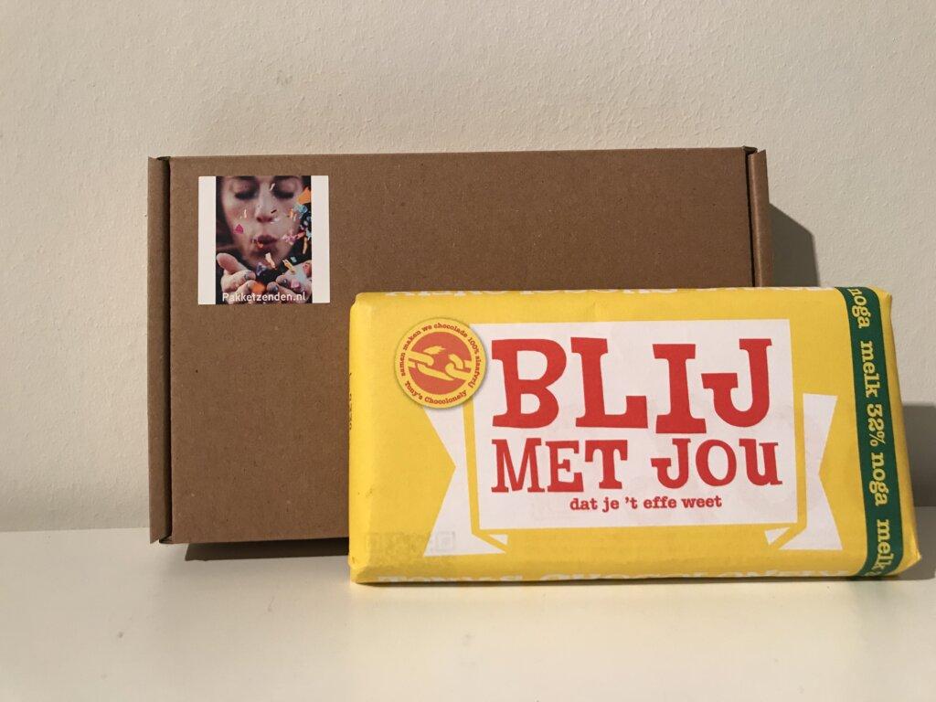 Tony-s-Chocolonely-Tekstrepen-Blij-met-jou-brievenbuscadeau-brievenbusgeschenk-brievenbuspost-pakketzenden.nl-chocoladereep-180-gram
