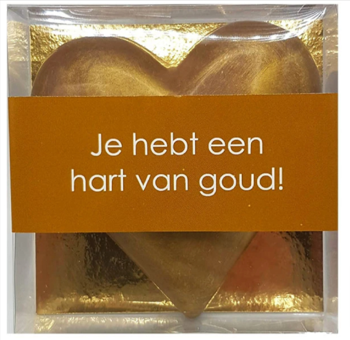 Hart-van-Goud-Chocoladehart-Goud-200-gram-melkchocolade-Pakketzenden.nl-Thuiswerken-Zorgpersoneel-Brievenbuscadeau